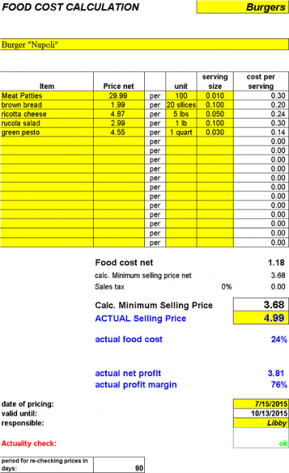 FoodCostCalculator (English)